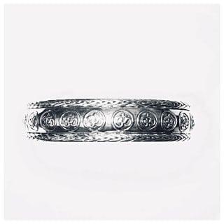 Bratara cu simboluri om din argint (9)
